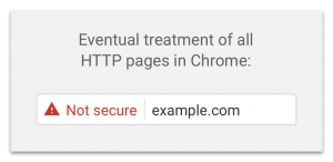 Google Chrome Website Not Secure Message!